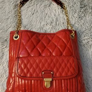 Coach Quilted slim red shoulder bag